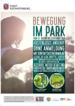 Plakat Bewegung im Park