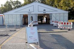 Das Testzentrum auf dem Volksfestplatz