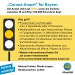 Corona-Ampel gelb