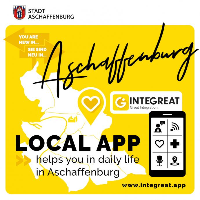 Logo der Integreat App in Aschaffenburg