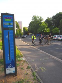 Fahrradzählstelle Deutsche Straße
