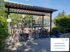 Neue Fahrradabstellanlagen am Hintereingang des Dalberggymnasiums