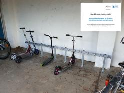 Neue Scooter-Abstellanlage