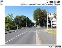 Verlängerung der Fahrradstraße (Deschstraße)