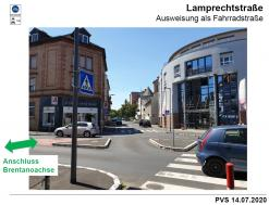 Verlängerung der Fahrradstraße (Brentanostraße) in die Lamprechtstraße