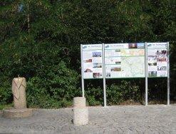 Foto der ersten Infotafel am Main-Radweg