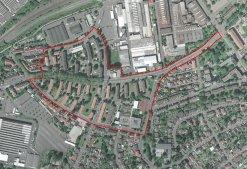 Umgrenzung Sanierungsgebiet Hefner-Alteneck-Viertel
