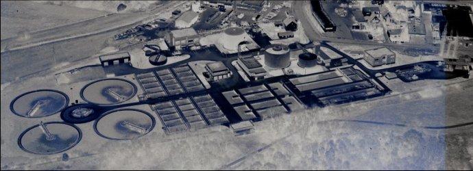 Luftbild des Klärwerks
