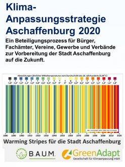 Warming Stripes für die Stadt Aschaffenburg