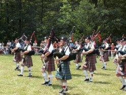 Highland Oyunlarında İskoç yaşam tarzı.
