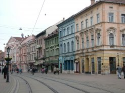Miskolc'de eski kent.
