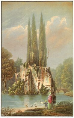Ansicht der Ruine im Schöntaalsee