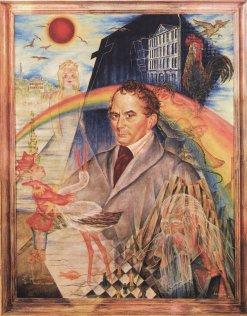 Ein von Christian Schad gemaltes Bild zeigt Clemens Brentano