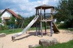 Rutschenturm im Sandkasten auf dem Spielplatz Am Sternberg