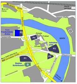 Lageplan  f.a.n. frankenstolz arena