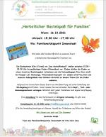 """Plakat """"Herbstlicher Bastelspass"""""""