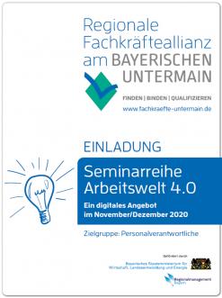 "Flyer Seminarreihe ""Arbeitswelt 4.0"""