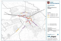 Lärmaktionsplan 2017: Kartierungsnetz Straße