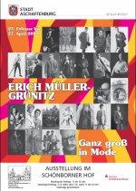 Plakat zur Ausstellung Erich Müller-Grünitz: Ganz groß in Mode