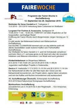 Programm der Fairen Woche