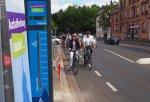 Erste Fahrradzählstelle in Aschaffenburg