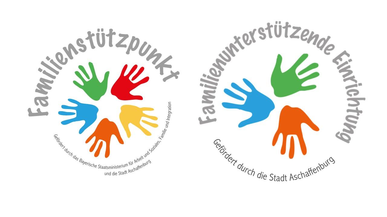 Logo des Familienstützpunkts und der Familienuntertsützenden Einrichtung