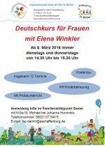 Plakat Deutschkurs in Damm