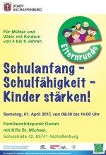 Poster Elternrunde im Oktober