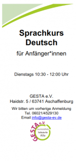 Flyer des Deutschkurses