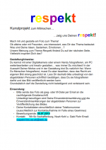 Flyer der Kunstaktion