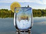 Bild eines Wasserglases