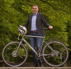 Foto des Stadtradeln-Botschafters, Herr Henrik Barz