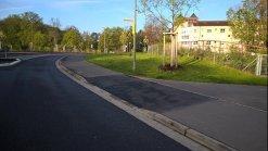Neue Bordabsenkung an der Deutschen Straße