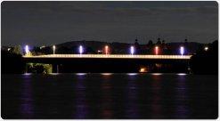 beleuchtete Ebertbrücke