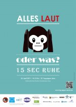Plakat: Affe hält sich die Ohren zu