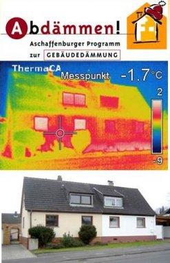 Thermografie und Foto eines Wohnhauses