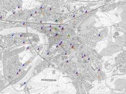 Übersichtskarte der Mobilfunkstandorte in Aschaffenburg