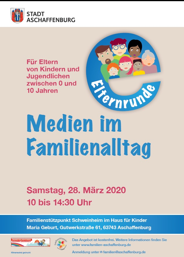 Plakat Medien im Familienalltag
