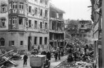 Zerstörte Häuser in der Dalbergstraße