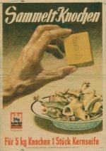 Plakat: Sammelt Knochen, 1944