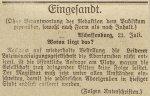 Leserbrief in der Aschaffenburger Zeitung am 31. Juli 1917