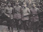 Foto von vier Leiderer Kriegern in: Unsere Jäger, Aschaffenburg 1936, Seite 129 (SSAA, Landeskundliche Bibliothek Ae 24)