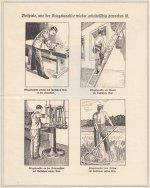 Eine Broschüre zeigt beispielhaft Einsatzmöglichkeiten für Kriegsversehrte (aus: SSAA, ZGS 181)