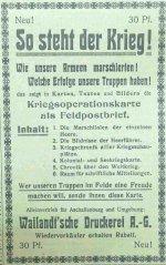 Anzeige der Wailandt'schen Druckerei im Aschaffenburger Anzeiger, November 1914