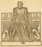 Abbildung des Eisernen Mannes von Aschaffenburg in der Aschaffenburger Zeitung