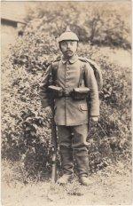 Fotografie des Landsturmmanns Josef Spangenberger, 1916