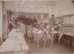 Innenansicht des Leseraums im Soldatentagesheim, 1916