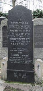 Grabmal für Moritz Freund auf dem jüdischen Altstadtfriedhof Aschaffenburg