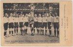 Postkarte mit Foto der ersten Mannschaft der Viktoria 01 Aschaffenburg 1913/14