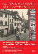 Plakat Auf den Straßen Aschaffenburgs